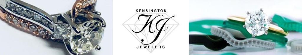 Kensington Jewelers logo and custom made jewelry
